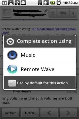 Screenshot of Remote Wave