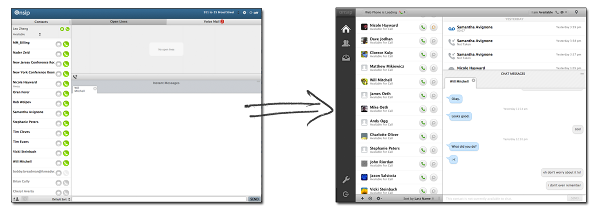 new browser Unified Communications tool