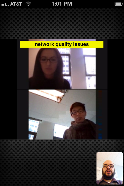 Video conference call between members of the OnSIP team