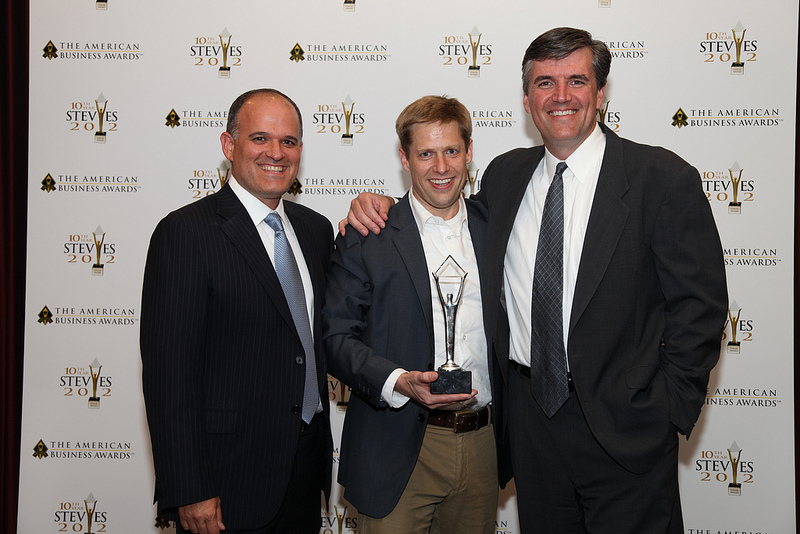 OnSIP co-founders accepting the prize