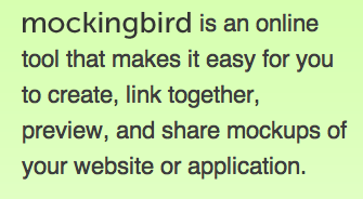 Mockingbird website writing