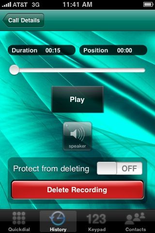 Acrobits Delete Recording