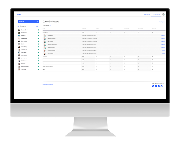 OnSIP VoIP - Smart Queue Dashboard